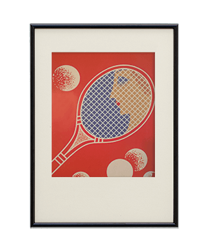 Original Rare Art Deco Tennis Print -1