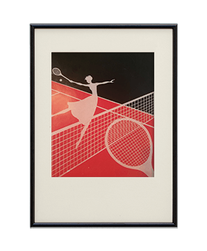 Original Rare Art Deco Tennis Print -2