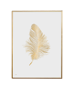 GOLD AMBIENCE FEATHER WHITE